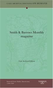 Cover of: Smith & Barrows Monthly magazine | Gale Archival Editions