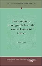Cover of: State rights | Lewis Tayler