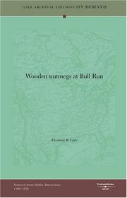 "Cover of: ""Wooden nutmegs"" at Bull Run 