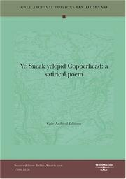 Cover of: Ye Sneak yclepid Copperhead by Gale Archival Editions