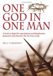 Cover of: One God In One Man | Dr. C. T. Benedict
