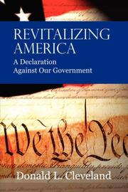 Cover of: Revitalizing America by Donald, L. Cleveland