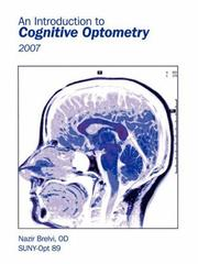 Cover of: An Introduction to Cognitive Optometry | Nazir Brelvi OD