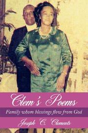 Cover of: Clem's Poems | Joseph C. Clements