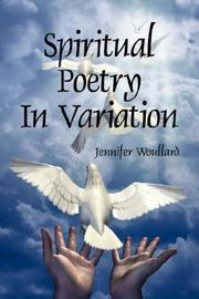 Cover of: Spiritual Poetry In Variation | Jennifer Woullard