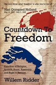 Cover of: Countdown To Freedom | Willem Ridder