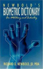 Cover of: Newbold's Biometric Dictionary | JD MBA Richard D. Newbold