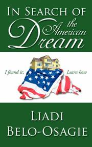 Cover of: In Search of the American Dream | Liadi Belo-Osagie