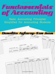 Cover of: FUNDAMENTALS OF ACCOUNTING | Donatila Agtarap-San Juan