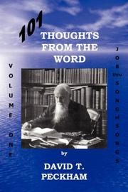 Cover of: 101 Thoughts From the Word: Volume One | David, T. Peckham