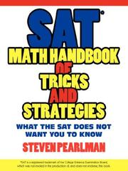 Cover of: SAT Math Handbook of Tricks and Strategies | Steven Pearlman