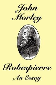 Cover of: Robespierre | John, Morley