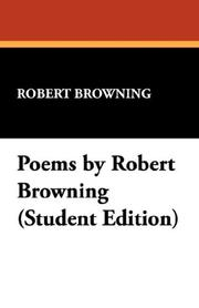 Cover of: Poems by Robert Browning | Robert Browning