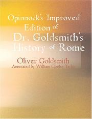 Cover of: Pinnock's Improved Edition of Dr. Goldsmith's History of Rome | Oliver Goldsmith