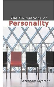 Cover of: The Foundations of Personality | Abraham, Myerson