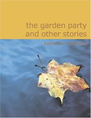 Cover of: The Garden Party and Other Stories | Katherine Mansfield