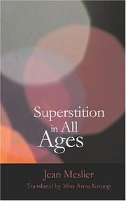 Cover of: Superstition In All Ages | Jean Meslier