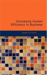Cover of: Increasing Human Efficiency in Business | Walter Dill Scott