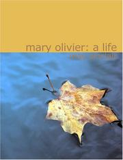 Cover of: Mary Olivier, a life | May Sinclair