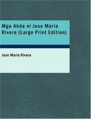 Cover of: Mga Akda ni Jose Maria Rivera by Jose Maria Rivera