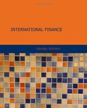 Cover of: International Finance | Hartley Withers