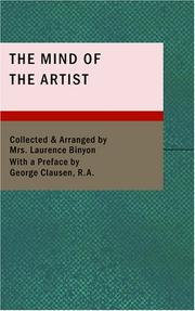 Cover of: The Mind of the Artist | Cicely Margaret Powell Binyon