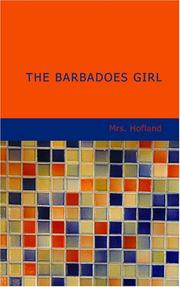 Cover of: The Barbadoes Girl | Barbara Wreaks Hoole Hofland