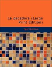Cover of: La pecadora by ngel Guimerá