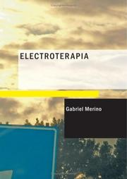 Cover of: Electroterapia | Gabriel Merino
