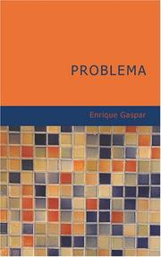 Cover of: Problema | Enrique Gaspar