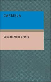 Cover of: Carmela | Salvador María Granés