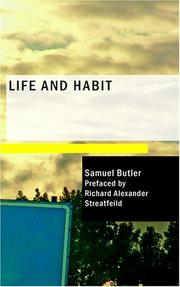 Cover of: Life and Habit | Samuel Butler