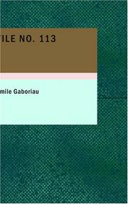 Cover of: File No. 113 | mile Gaboriau