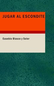 Cover of: Jugar al Escondite | Eusebio Blasco y Soler