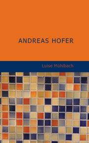 Cover of: Andreas Hofer | Luise Mühlbach