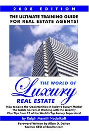Cover of: The World of Luxury Real Estate | Ralph Merritt Nedelkoff