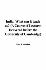 Cover of: India by Max F. Mueller