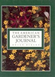 Cover of: The American Gardener's Journal | Brian Bixley