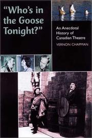 "Cover of: ""Who's in the Goose Tonight?"" by Vernon Chapman"