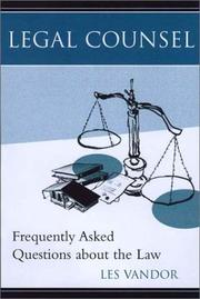Cover of: Frequently Asked Questions About the Law | Les Vandor
