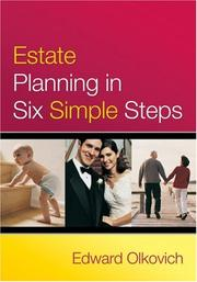 Cover of: Estate Planning in Six Simple Steps | Edward Olkovich