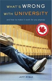 Cover of: What's Wrong with University by Jeff Rybak