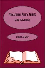 Cover of: Educational Policy Studies | Jerome Delaney