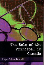 Cover of: Role of the Principal in Canada, The | Hope-Arlene Fennell