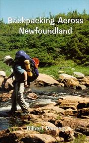 Cover of: Backpacking Across Newfoundland by Gilbert Penney