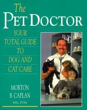 Cover of: The Pet Doctor | Morton B. Caplan
