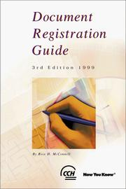 Cover of: Document Registration Guide | Rose H. McConnell