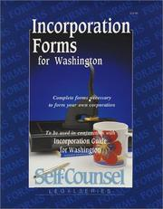 Cover of: Incorporation forms for Washington | Victoria Van Hof