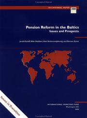 Cover of: Pension reform in the Baltics | Jerald Schiff, Niko Hobdari, Axel Schimmelpfennig, Roman Zytek