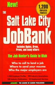 Cover of: The Salt Lake City Jobbank | Steven Graber